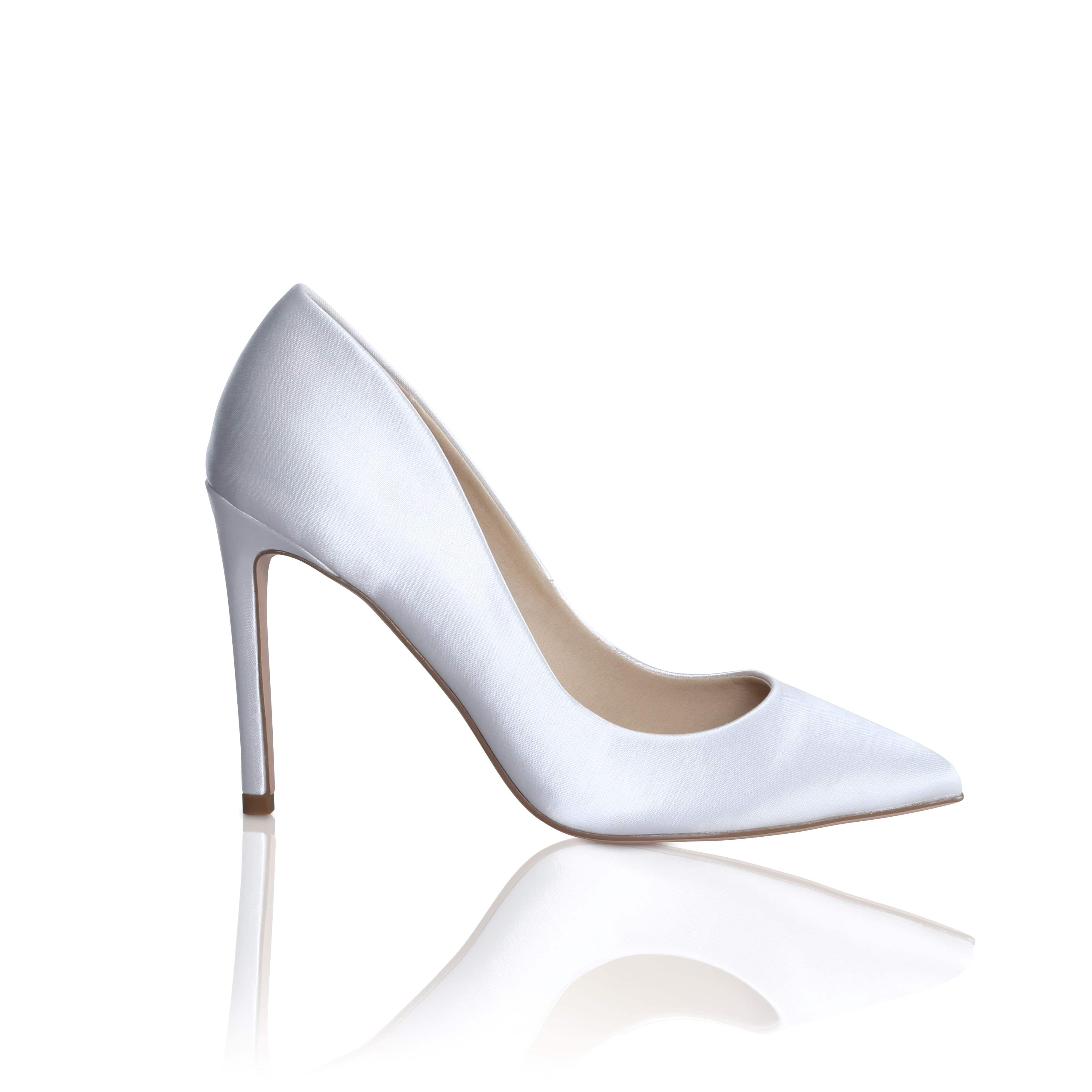 Brautschuhe Meghan Satin High Heels Pumps Single