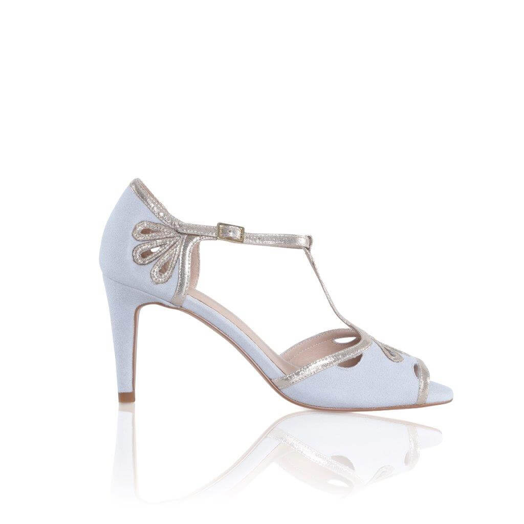 Esme High Heels Grey Silk Single