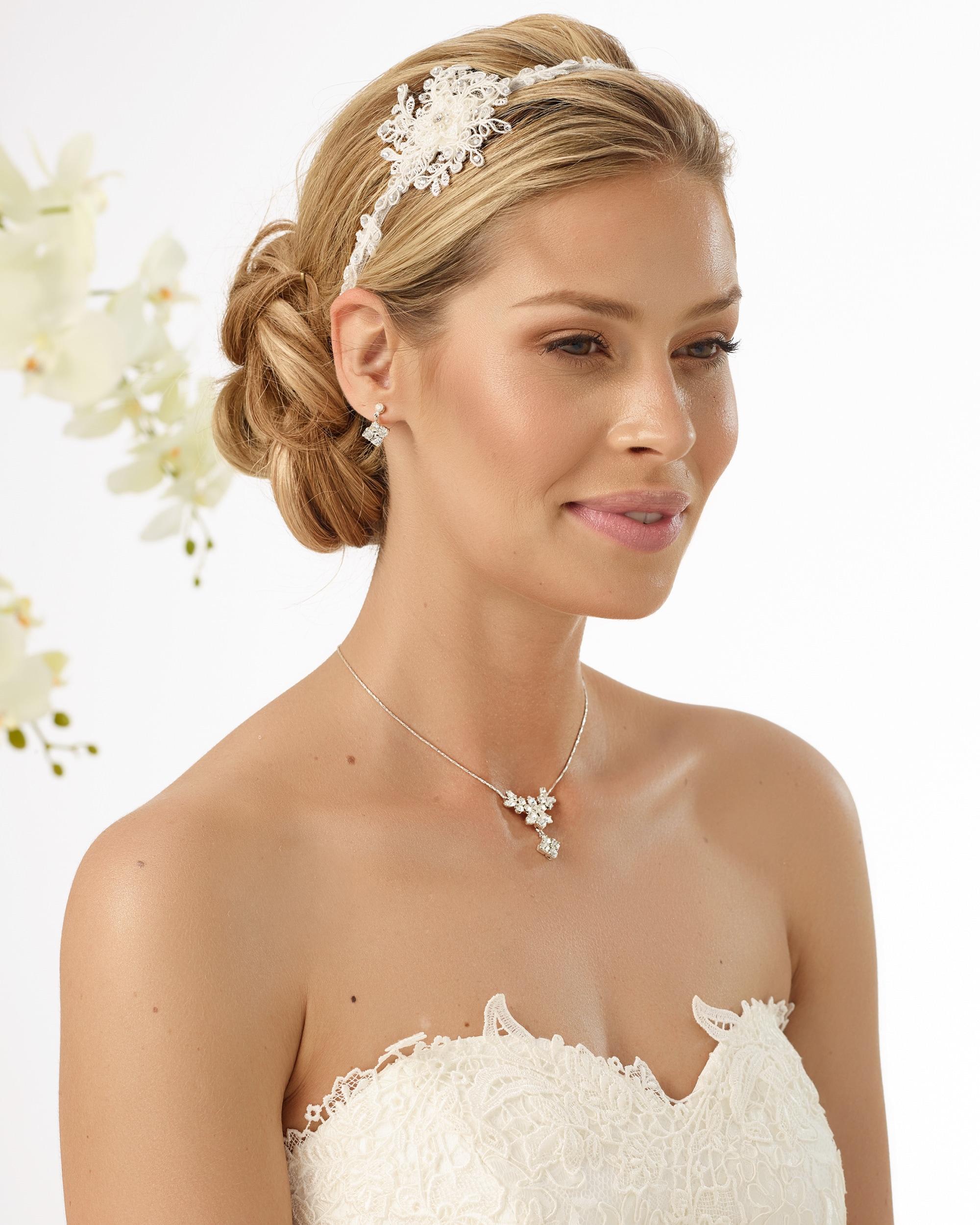 Haarband Bianco Evento 127 mit Swarowski Kristallen