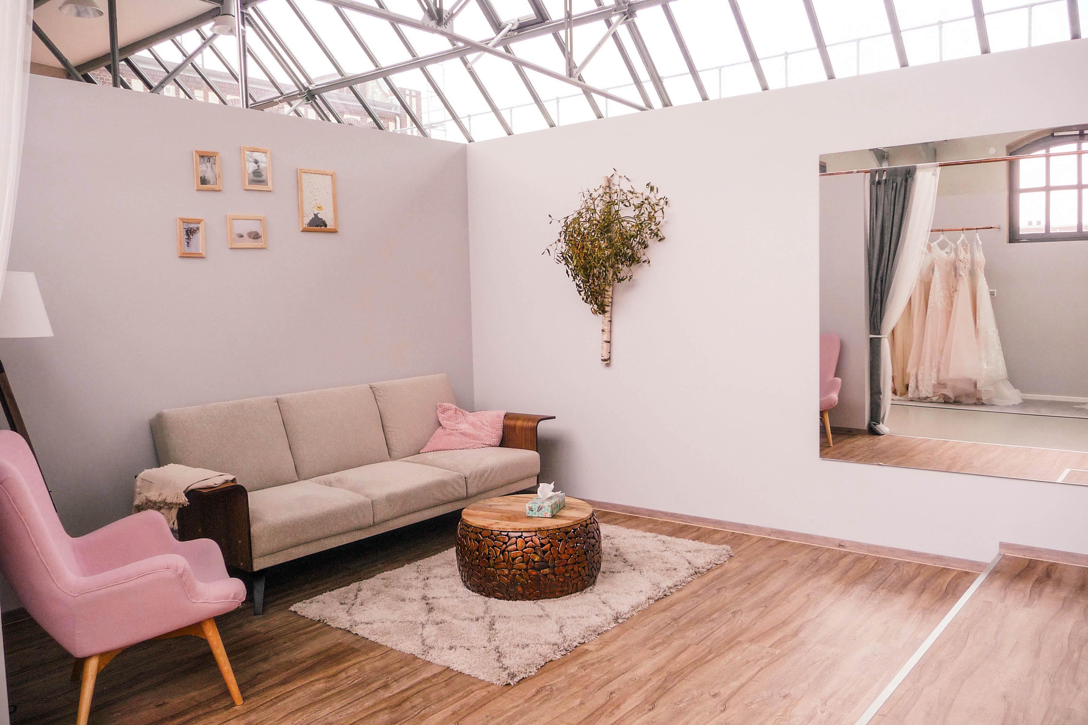 Natur Zimmer im Brautmodengeschäft Vanity Bridal in Berlin