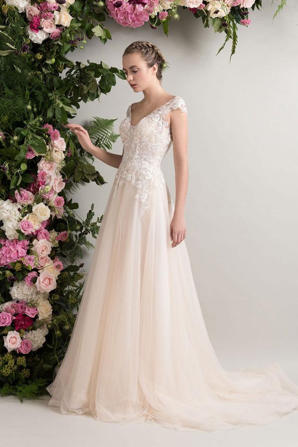 Apricot Brautkleider zum Verlieben