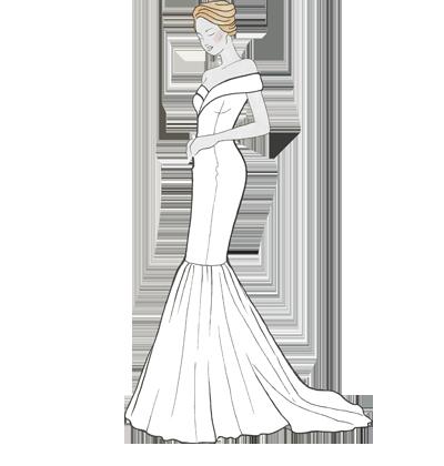 Brautkleid Mermaid Meerjungsfrau-Schnitt