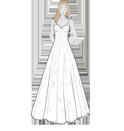 Brautkleider Schnitt A-Linie