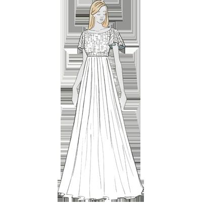 Empire-Schnitt für Brautkleider