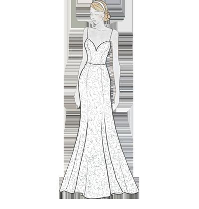 Fit-and-Flare-Passform für Hochzeitskleider