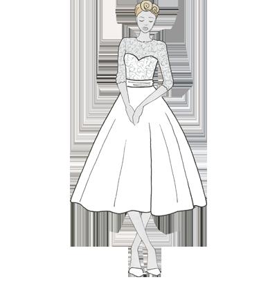 Kurzes Brautkleid