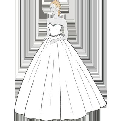 Princess-Schnitt für Dein Hochzeitskleid