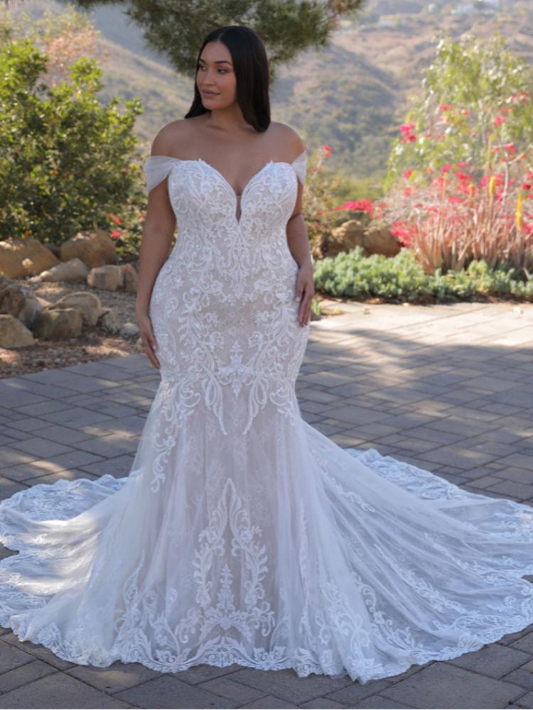 Brautkleider für große Größen in Berlin kaufen - Elysee Edition Kleid Athenais Front