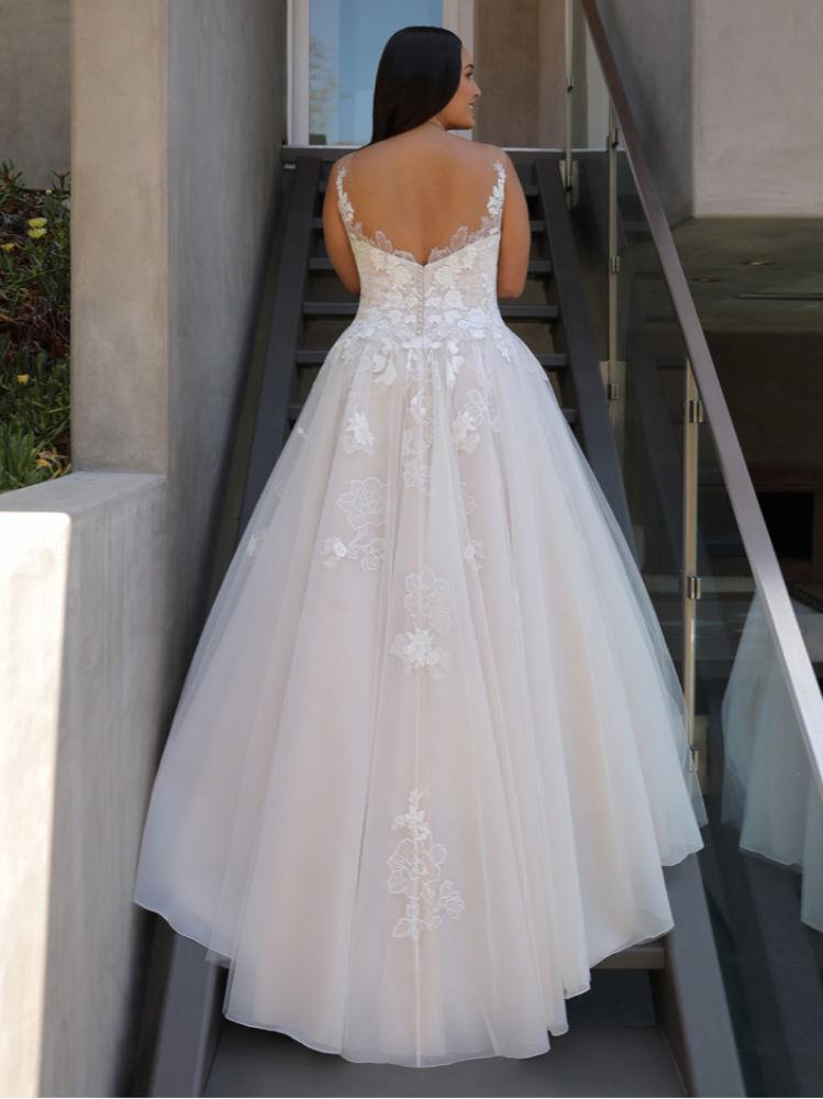 Brautmode für große Größen günstig kaufen - Elysee Edition Kleid Fleur Back