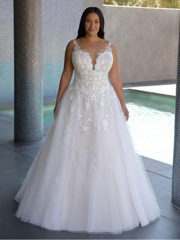 Brautmode für große Größen günstig kaufen - Elysee Edition Kleid Fleur Front