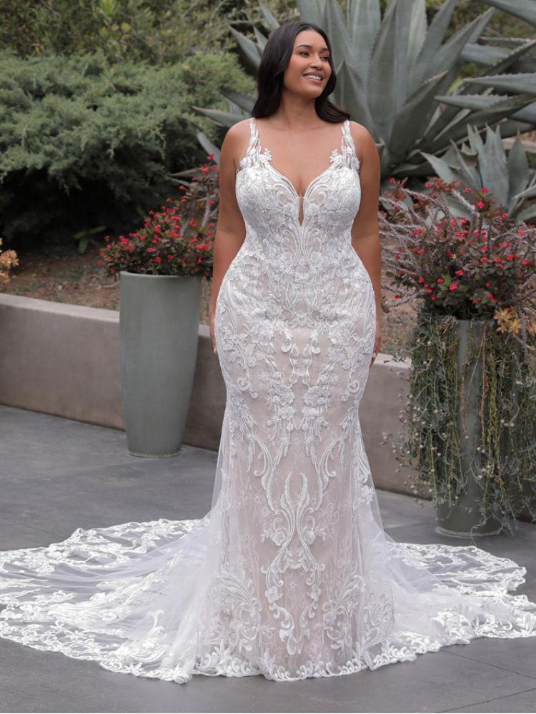 Brautkleid in Übergröße, Plus Size, XXL - Elysee Edition Kleid Francoise Front